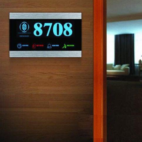 پنل نمایشگر بیرونی درب هتل مدلB1 - رایکا هوم