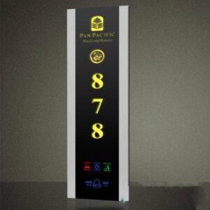 پنل نمایشگر بیرونی درب هتل مدل E450 - رایکا هوم